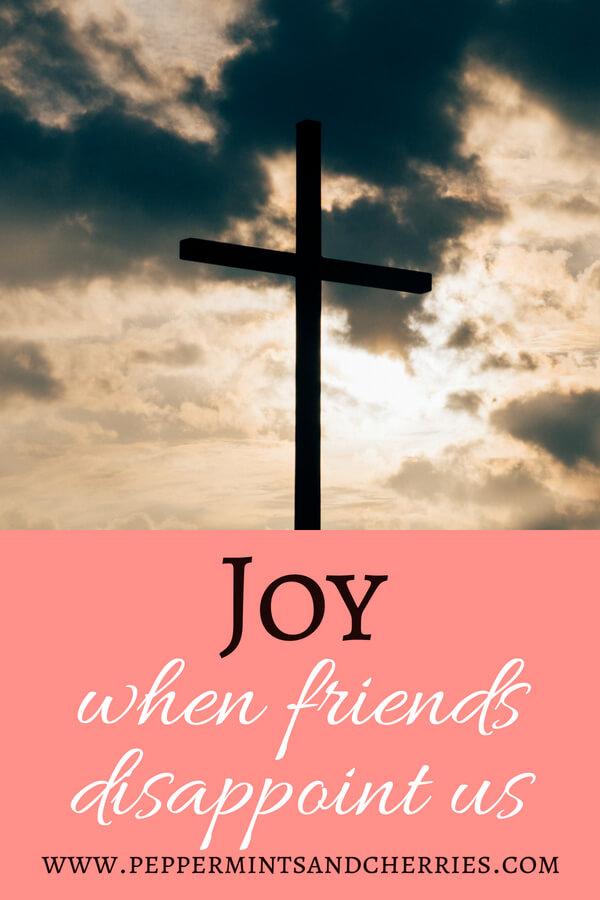 Joy When Friends Disappoint Us www.peppermintsandcherries.com