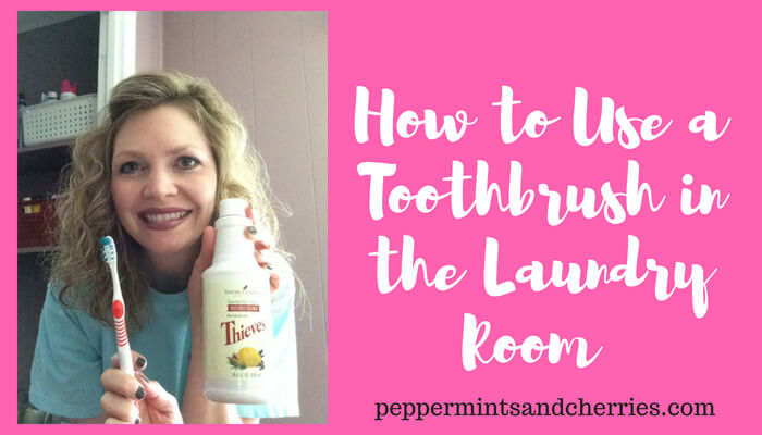 How to Use a Toothbrush in the Laundry Room