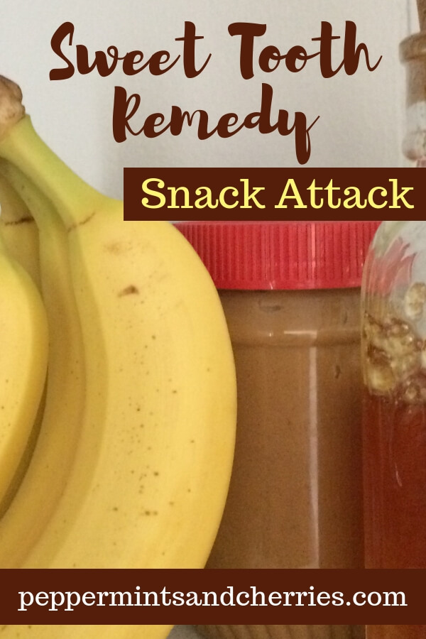 Banana and Peanut Butter as a Simple Snack Attack www.peppermintsandcherries.com