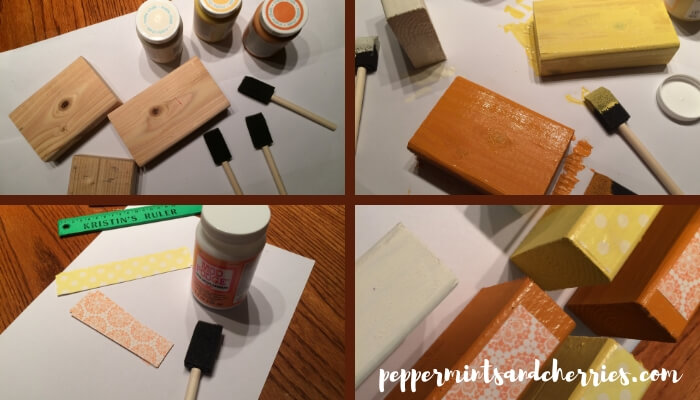 How to Make Candy Corn Wooden Blocks for Home Decor