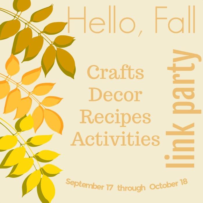 Hello Fall Link Party www.peppermintsandcherries.com