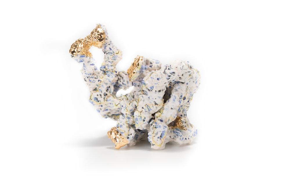 Assemblage 137, 2017  Ceramic, Gold Luster  25.5 x 16.5 x 22cm