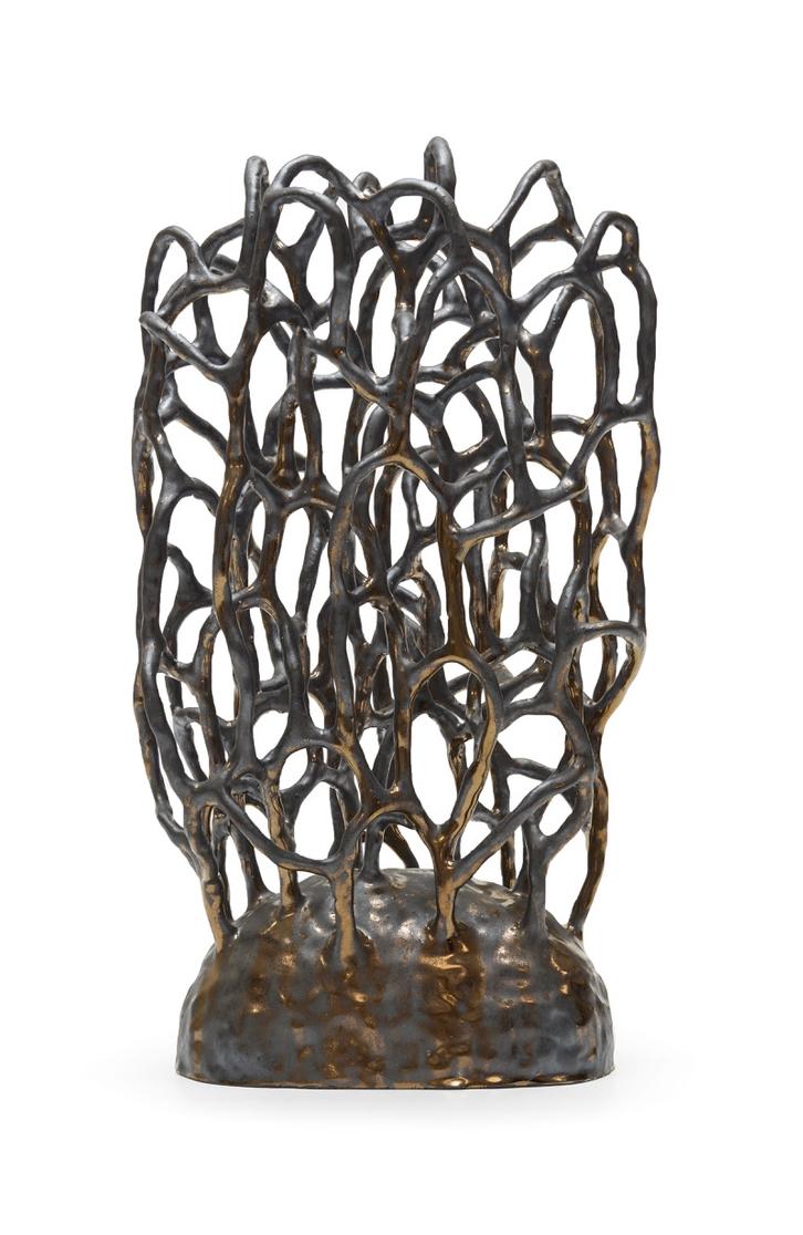 Untitled (Pewter Bush), 2017  Ceramic  40 x 27 x 23 cm