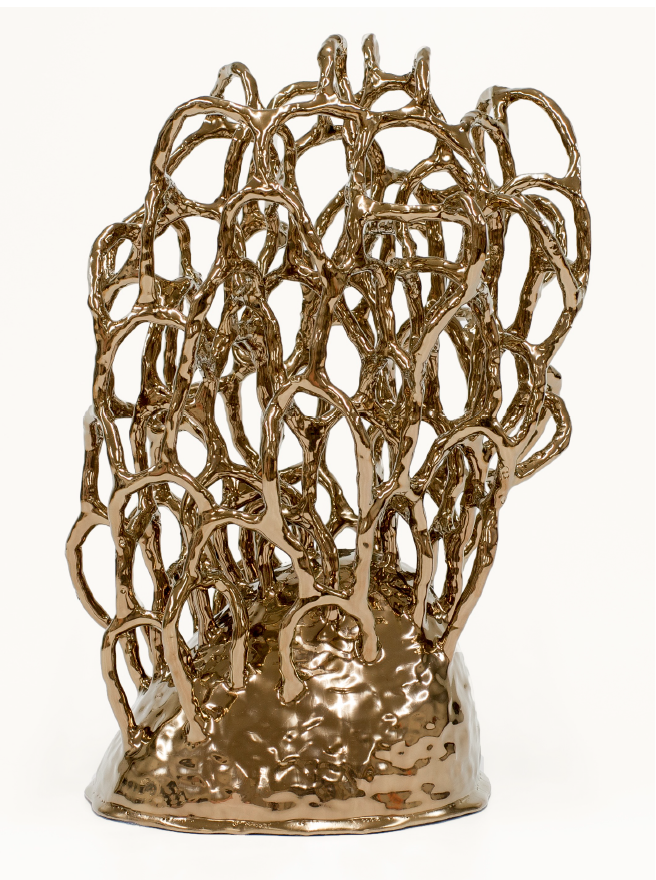 Untitled (Gold Bush), 2016  Ceramic  40 x 27 x 23 cm