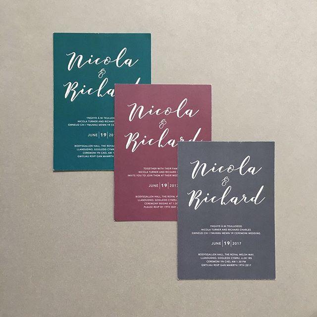 Minimalist invites, with any colour you like. Bilingual options available too! Link in my bio 🙌 happy Monday all! .⠀⠀ .⠀⠀ .⠀⠀ .⠀⠀ .⠀⠀ #weddingday #weddingstationery #morningmotivation #mondaymornings #greyinvites #invitations #freelancelife #weddingdesigns #welshbusiness #savethedate #welshdesign #bilingual #bridetobe #typography #savethedatecards #weddinginvites #creativecardiff #weddinginvitations #designer #bridalstyle #ukwedding #weddinginspo #luxuryinvitations #creative #cardiff