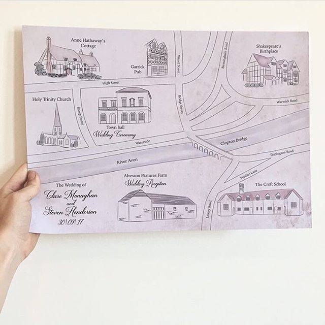 I think it's great when couples want to get their guests exploring the local area during their wedding weekend. Still love this map showcasing all the wonderful places to visit in Stratford-upon-Avon 🗺 . . . . #weddingday #weddingstationery #cardiff #map #illustration #stratforduponavon #shakespeare #familycrest #weddingmap #vintage #weddinginvitations #pursuepretty #designer #creative #invitations #stationerylove #thehappynow #creativehappylife #welshwedding #weddinginspiration #invitation #wedding #design #engaged #wedmin #weddingdetails #weddingstyle #weddingplanning #bridetobe #happythursday