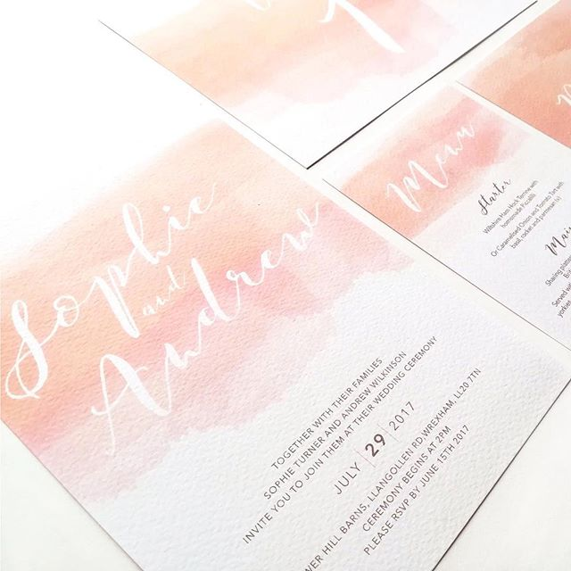 These blush watercolour invites are becoming to be a bit of a fave 💕⠀ .⠀ .⠀ .⠀ .⠀ #weddingstationery #wednesdayvibes #welshweddings #southwalesweddings #blushinvitations #invitations #gettingmarried #waleswedding #welshwedding #2019wedding #luxurywedding #bride #engaged #isaidyes #engagement #mrandmrs #invites #watercolourinvites #bridetobe2019