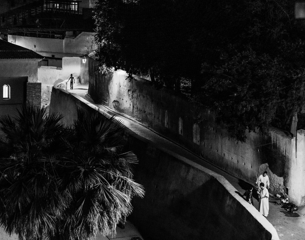 FEZ NIGHTS, 2018 - MoroccoPhotograph on BW Ilford Pearl Finish with UV Protected Matte, on Anodized Aluminum50.8cm x 64.5cm(20in x 25in)