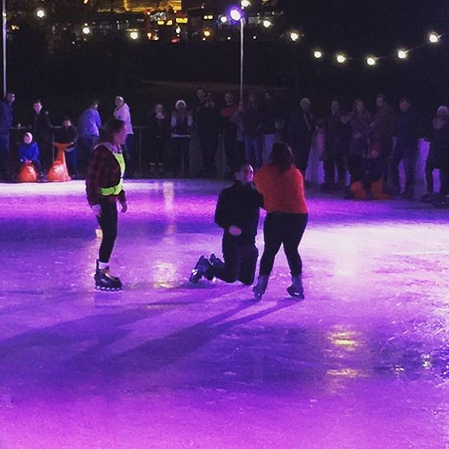 Today we had one of those amazing Christmas moments with a proposal on the ice ❤️ What a awesome early Xmas present! Congratulations from the whole team x