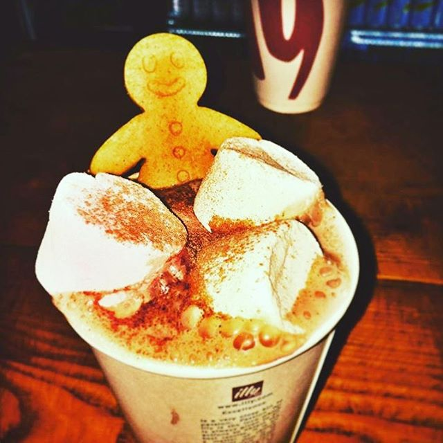 Our gingerbread man sure looks toasty!  Love this shot from @mccormickproperty
