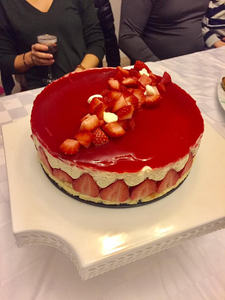 Strawberry Fraisier Cake