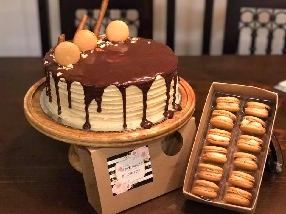 Mocha Espresso Cake w/ Espresso Macarons