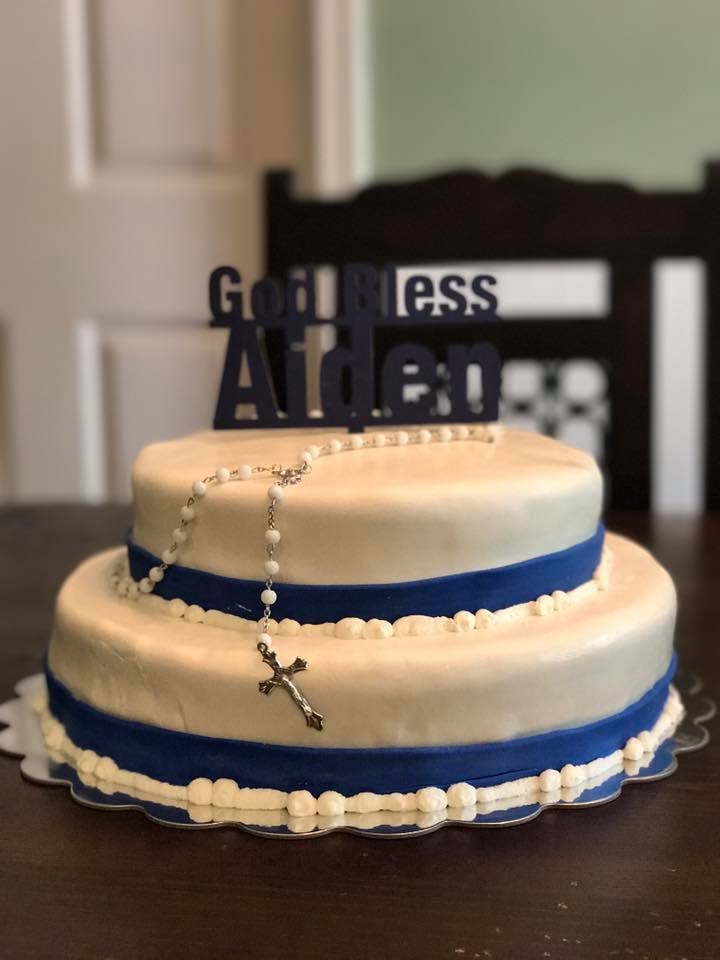 Baptism Cake - Baby Boy
