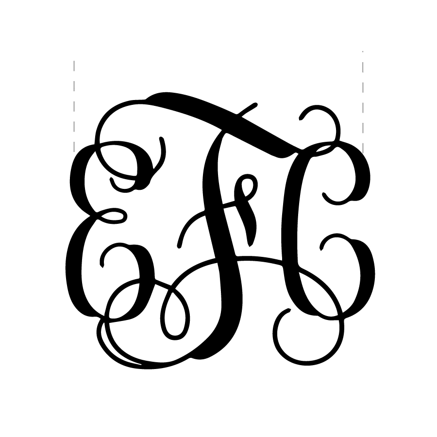 Lasercut Monogram
