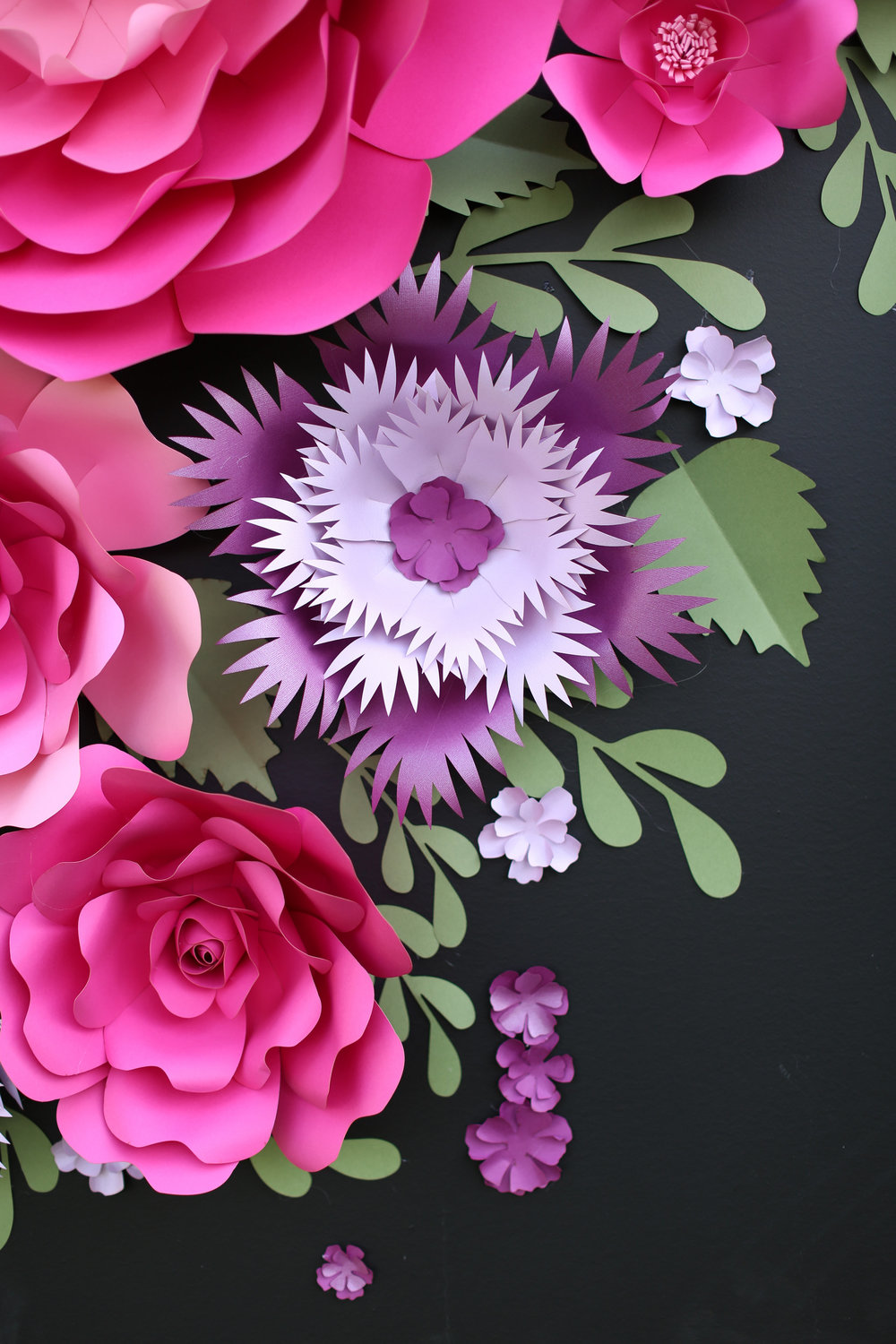Chalkboard_Backdrop_Giant Paper Flowers_ backdrop display_ dessert table backdrop _ Kate Spade inspired dessert table decor_ hot pink and purple flowers for backdrop _ chalkboard backdrop_unique 14.jpg