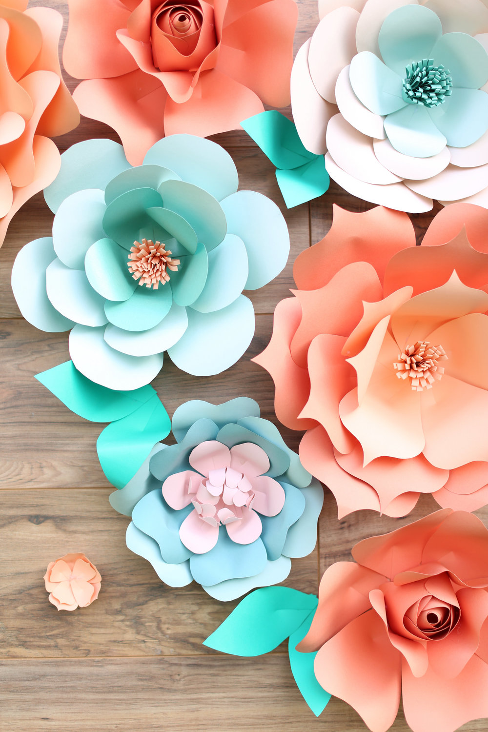rustic giant paper flower backdrop_rustic wood backdrop_ pallette backdrop_peach and teal giant paper flower backdrop_ peach wedding dessert decor_ peach and teal wedding decor ideas_ unique rustic decor 12.jpg