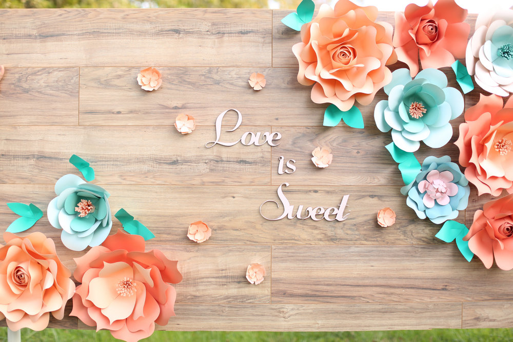 rustic giant paper flower backdrop_rustic wood backdrop_ pallette backdrop_peach and teal giant paper flower backdrop_ peach wedding dessert decor_ peach and teal wedding decor ideas_ unique rustic decor 14.jpg