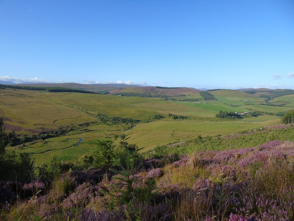 Stunning views over rolling farmland and heather moor