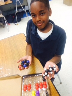 """I love it that I get to learn chemistry by making chemical compounds like these and find out what they are used for. I want to be a chemist and make interesting stuff."""