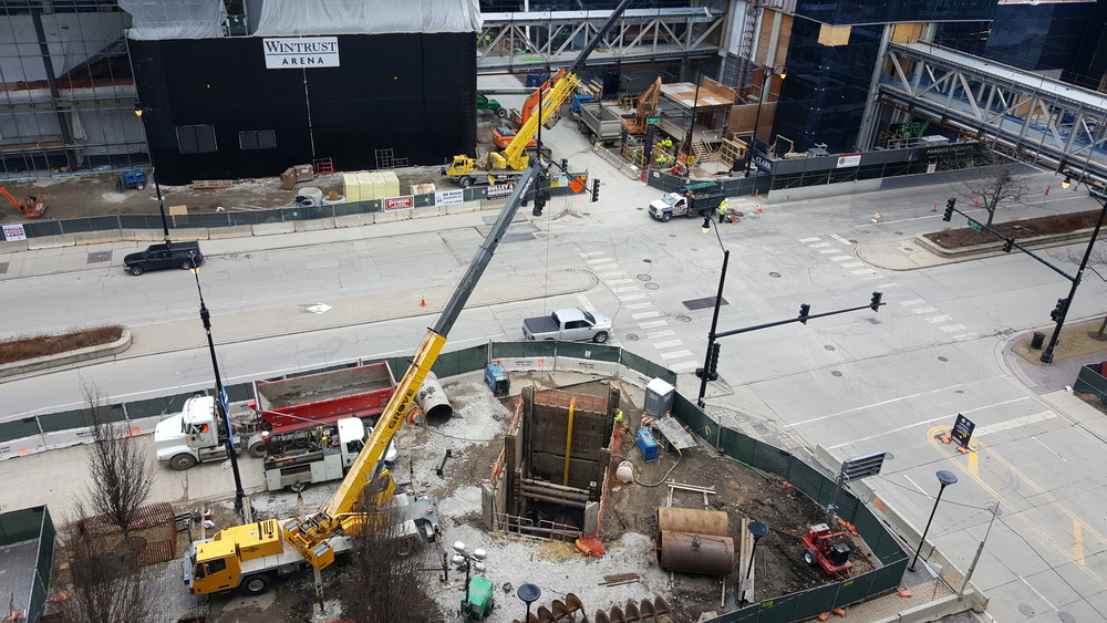 Wintrust Arena Auger Bore | Chicago, IL