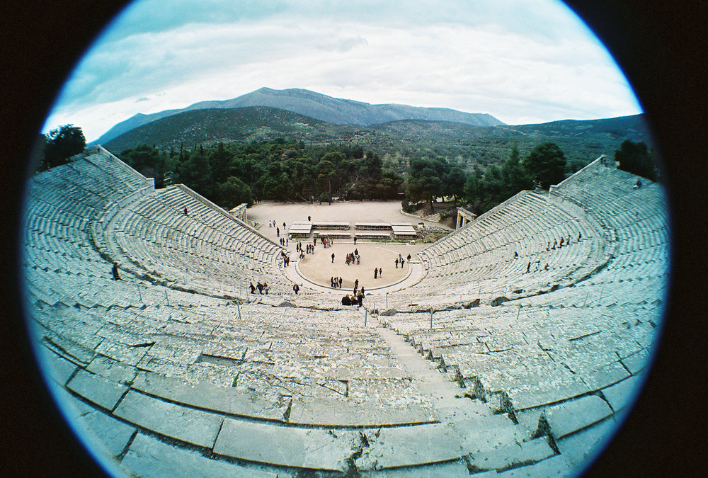 By William Neuheisel from DC, US - Theater of Epidaurus, CC BY 2.0,  https://commons.wikimedia.org/w/index.php?curid=40531313