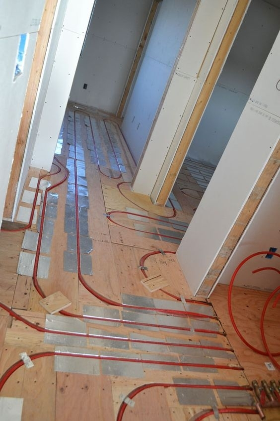 This homeowner asked for in-floor radiant heat in the bedrooms, too.