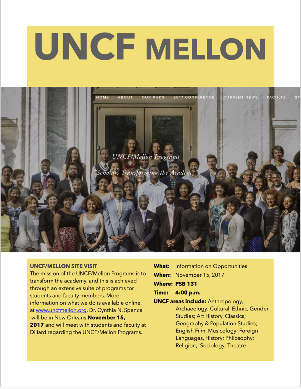 UNCF-Mellon Program DU Site Visit 2017.png