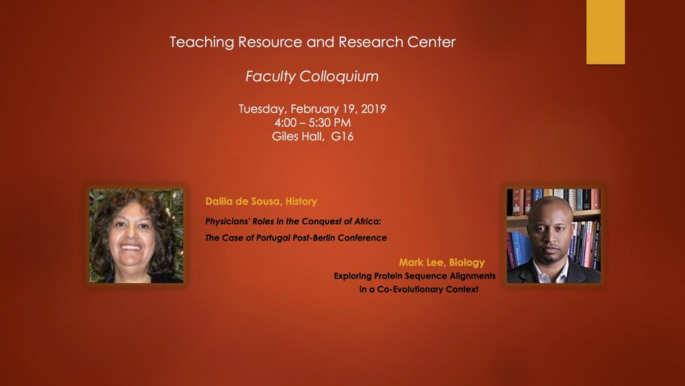 Flyer - Faculty Colloquium - February 19, 2019 -Dalila de Sousa, Mark Lee.jpg