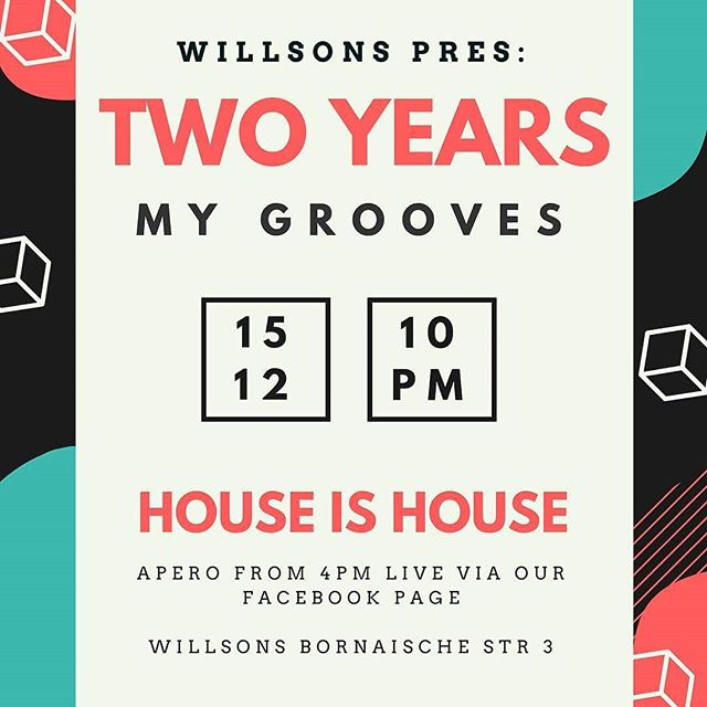 Wir sehen uns heute Abend bei Two Years of MyGrooves!  #house #leipzig #food #musik #streetfood #foodie #techno #dj #gesundessen #party
