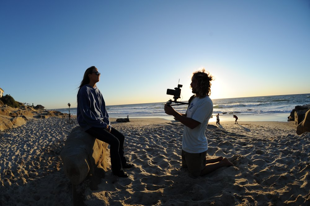 Co-founder, Sean Santiago, capturing the perspective of local surfer in La Jolla, CA.