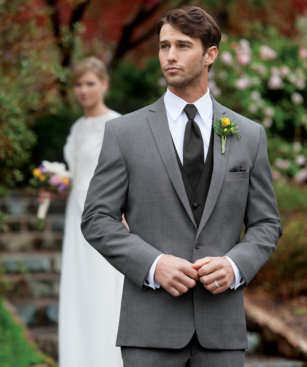 Grey Dillon Slim Fit Suit by Stephen Geoffrey