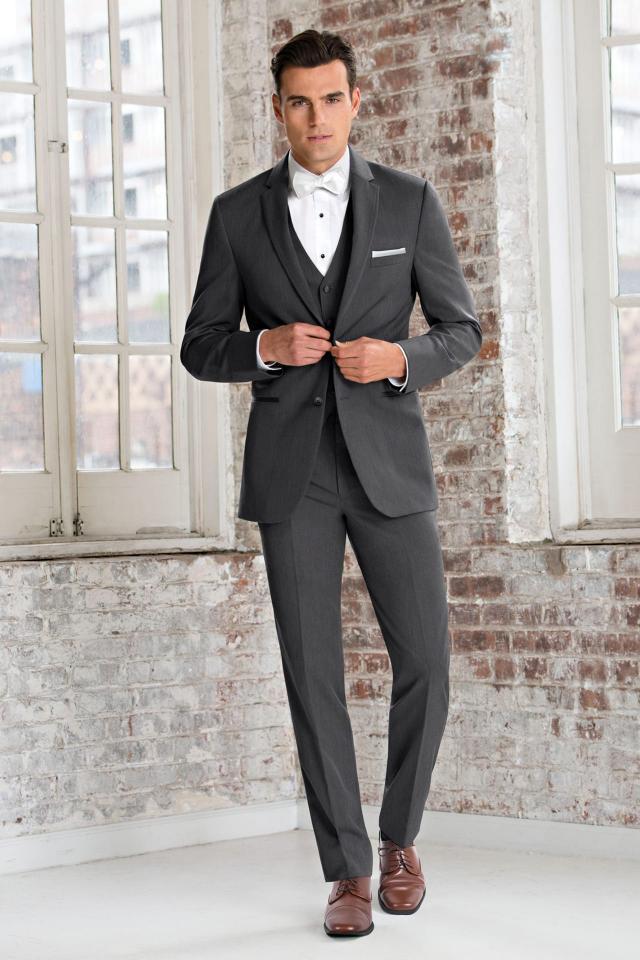 Ultra Slim Steel Grey Sterling Suit by Michael Kors