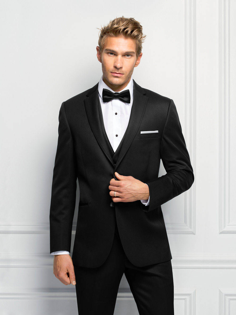 Black Ultra Slim Suit by Michael Kors