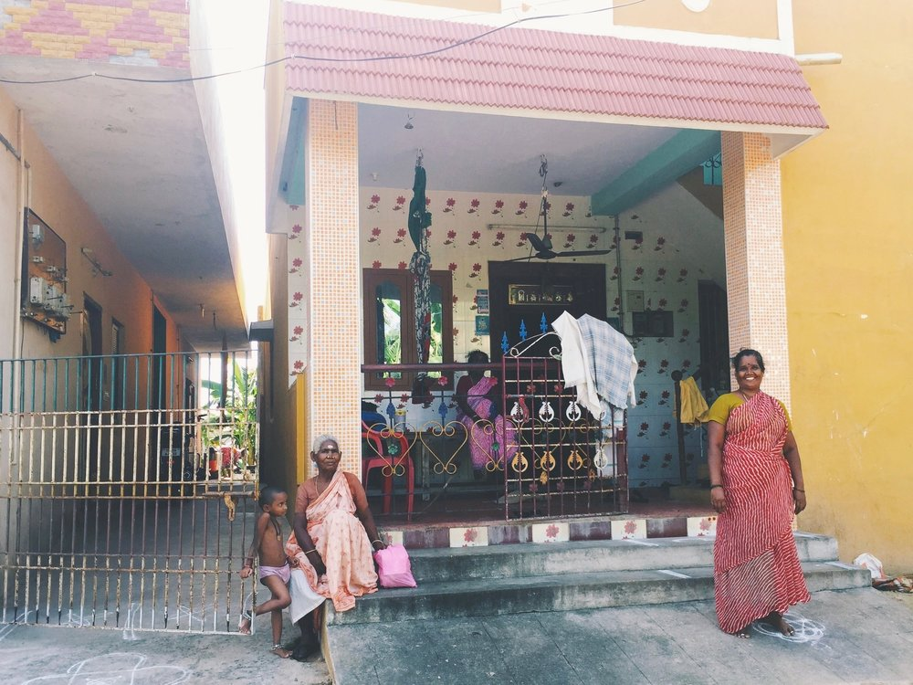 Three generations of women in Hanumanthapuram village. Photo by, Mary Elizabeth Heard