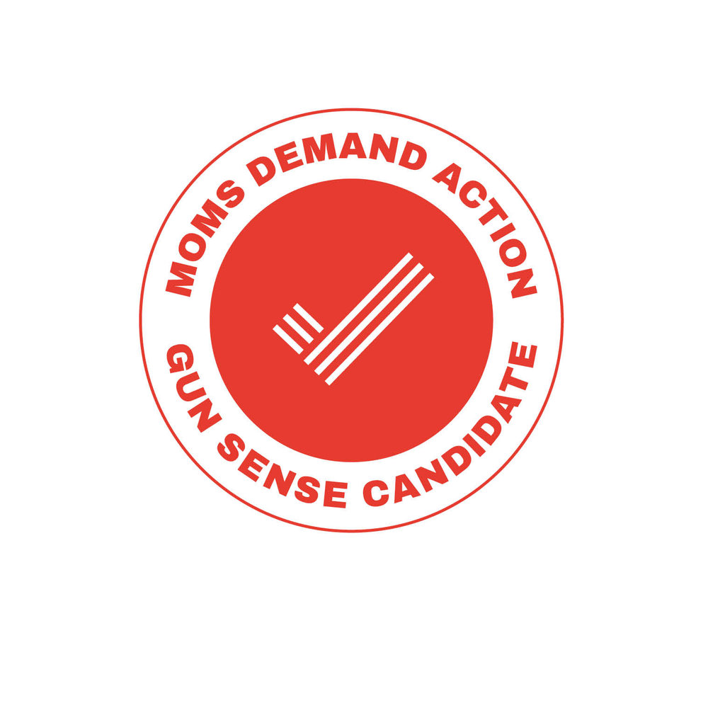 Erin has been given the Moms Demand Action Gun Sense Candidate distinction. It is not a formal endorsement, and instead it speaks to Erin's work standing up for gun violence prevention and recognizing the importance of gun safety in our communities.