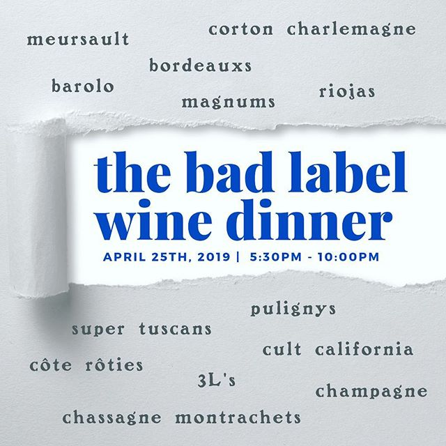 🍷So after doing an exhaustive re-org of our wine cellar, we've found a few torn labels here or there.  Instead of crying about it, we've decided to celebrate the good wine still in them, at a great discount to you.  On April 25th, take full advantage of our errors. For reservations📞 631.324.5006 ⠀ .⠀ .⠀ .⠀ .⠀ .⠀ .⠀ .⠀ .⠀ .⠀ .⠀ .⠀ #wine  #winelover #winetasting #vino #winetime #food #winestagram #instagood #winelovers #drinks #instawine #wineoclock #cocktails #travel #vineyard #winecountry #dinner #whitewine #wines #bar #happyhour #weekend #winelife #montrachet #bordeaux #redwine #rioja #meursault #champagne #frenchwine