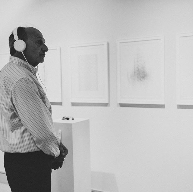 Here is my father listing to the Krotona SoundScape at the Archimusic Exhibition. It was an honor to have my entire family attend my PhD Defense