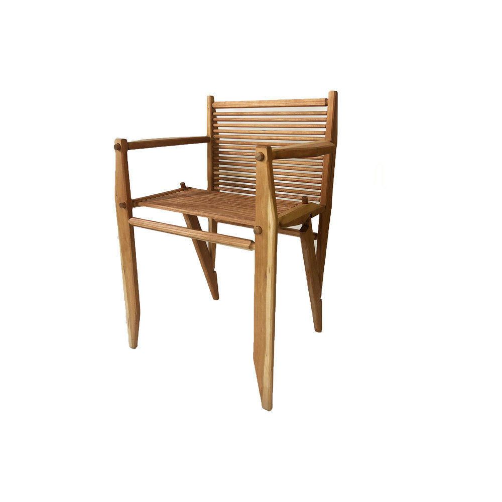 CHARLIE FROUD CHERRY WOOD CHAIRS