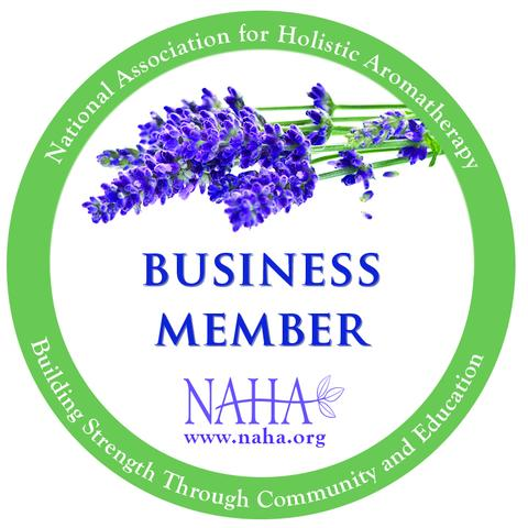 NAHA Member - A leading aromatherapy organization devoted to the holistic integration and education of aromatherapy into a wide range of complementary healthcare practices including self care and home pharmacy