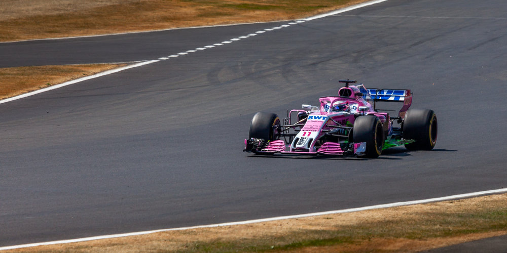 Sergio Perez driving the No11 Force India on Friday's first practice.