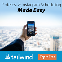 TailWind   Save time scheduling to Pinterest and Instagram, post at the best times for engagement, grow together with Tribes, get more actionable analytics.