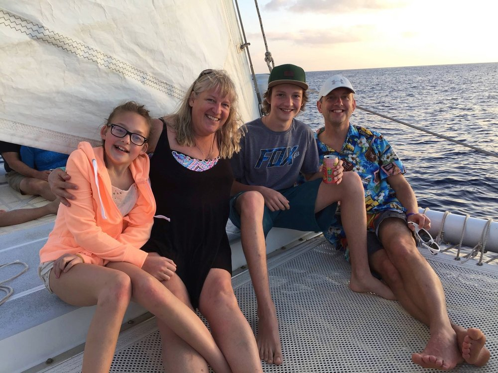 Left to Right: Natasha, Saskia, Liam, and Bill Gould.