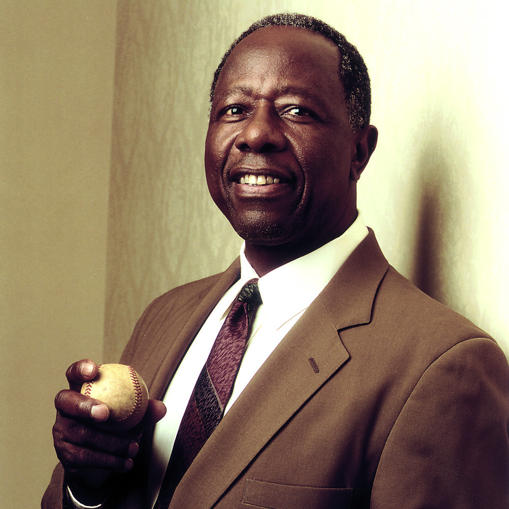 2002 - Hank Aaron - At the time of his retirement, Hank Aaron held most of Major League Baseball's key career power-hitting records outright. The Home Run King also has received the Presidential Citizens Medal and numerous civic awards for his contributions to youth programs.