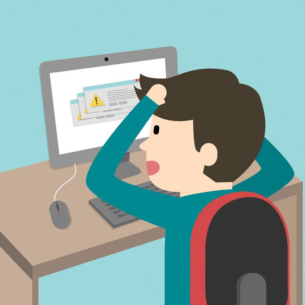 Designed by Freepik https://www.freepik.com/free-vector/computer-problems-cartoon_763376.htm