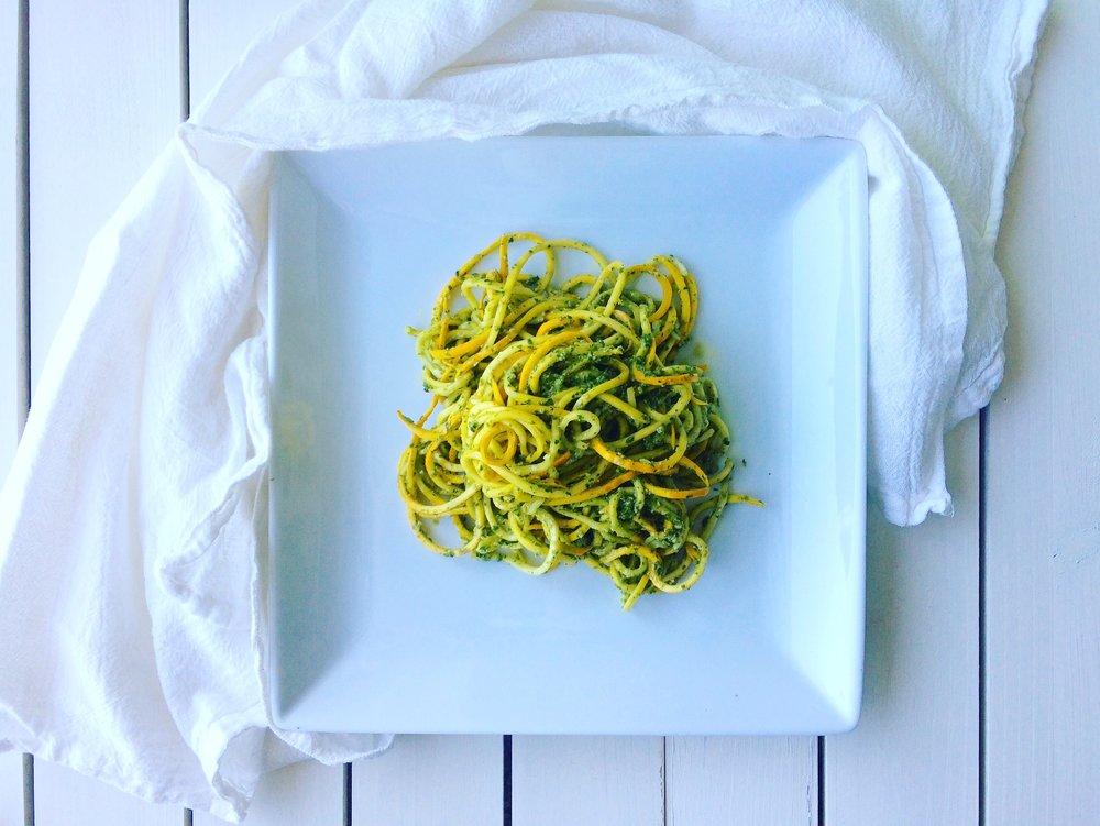- MMMMmmm. Squash + Pesto.