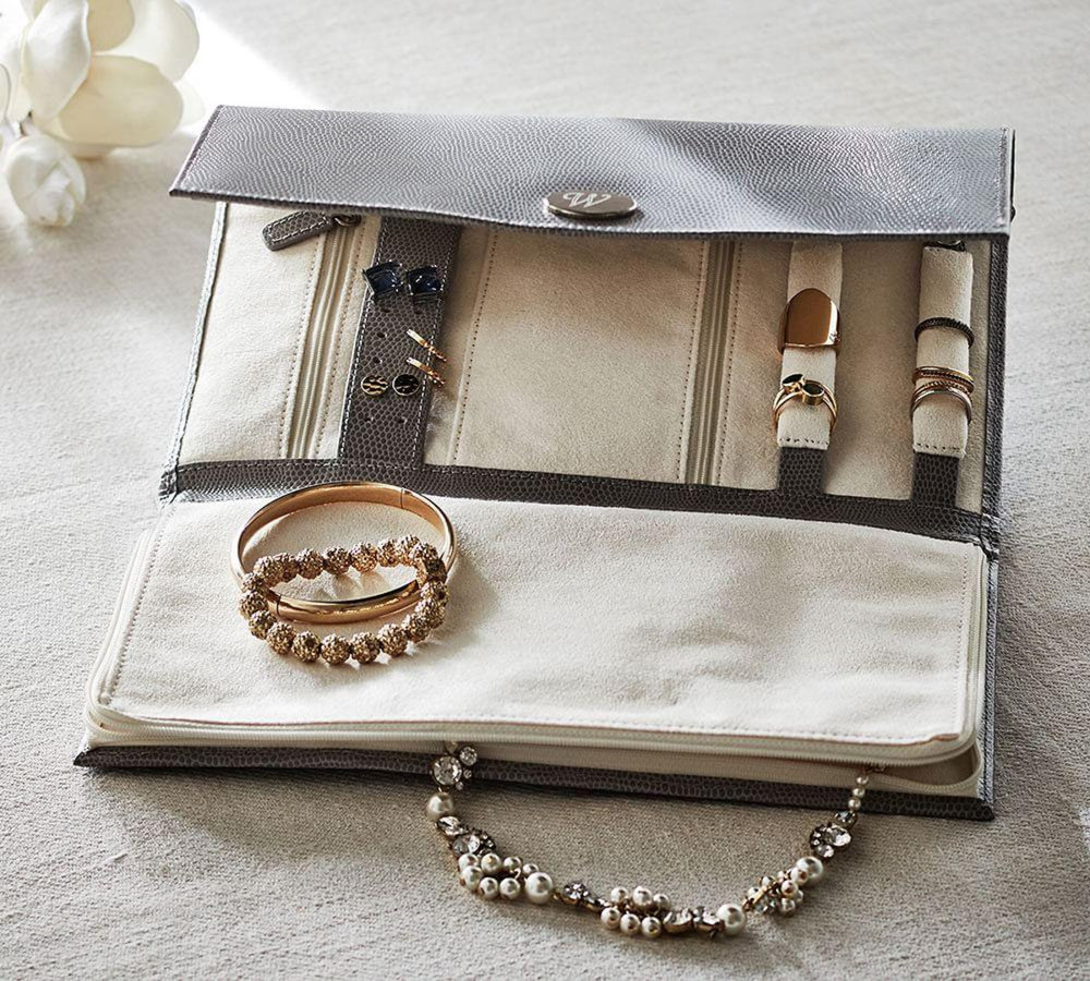 Leather Travel Jewelry Portfolio $79