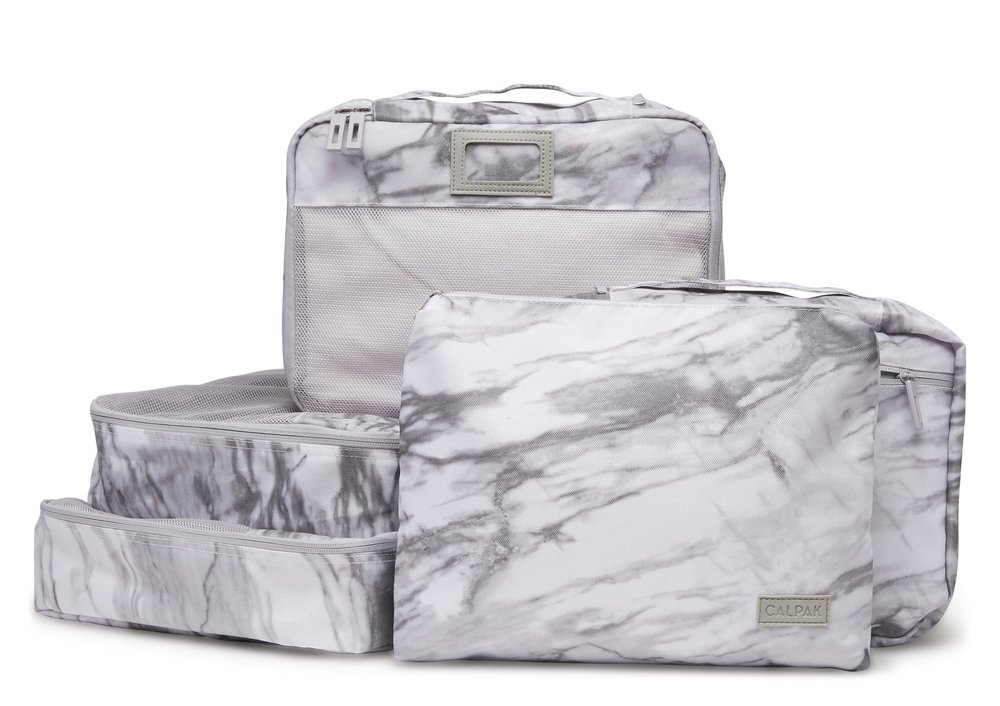 Calpak Packing Cubes – Milk Marble – 5 Piece Set $48