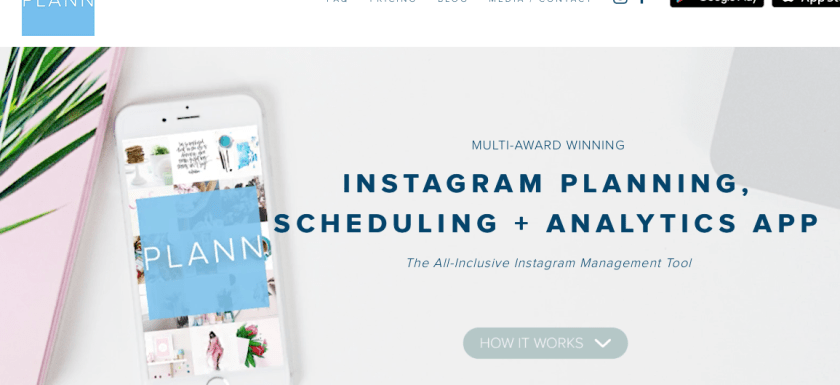 Plann That - Where do I start with this one???Plann that REVOLUTIONIZED the Instagram strategizing world. By allowing users to plan their Instagram feeds visually, Plann gives you more control over the asthetics of your account.Throw in the hashtag planner, strategy too, and competitor analytics and it is the gold medalist in this knock out fight.While Sendible wins in the autimation category, Plann is where the actually instagram planning takes place for me. Not only can you edit images directly within the app, you can also upload directly from Dropbox AND Google Drive.Game Changer.