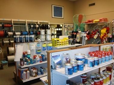 On-Site Store - We keep a fully stocked marine store and can order anything you can't find to be delivered usually within a couple of days - with no shipping charge to you.  Check out our catalogue and then come into our store, get a little advise before you buy!  Our prices are competitive with the on-line stores and we'd like you to support your local business. Or, if you'd like, peruse our catalog and make a phone order!