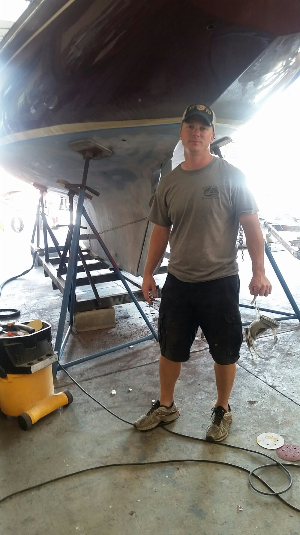 John Haney-Owner  - After college John devoted himself to developing an expertise in boat painting and, in particular the art of applying awl grip in a way that assures an eye-popping finish. He understands better than most that 90% of a quality finished product is in the preparation.